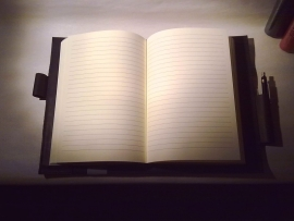 Bindewerk Stilus Lederen boekomslag A5 met notitieboek gelinieerd