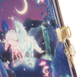 Goldbuch dagboek met slot - Eenhoorn