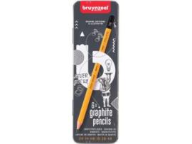 Bruynzeel Bruyzeel potlood, blikken doos met 6 stuks in geassorteerde hardheden