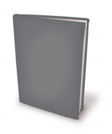 Rekbare boekenkaft zilvergrijze boekomslag van textiel A4 [996]