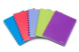 Trendy Atoma notitieboek A4 gelinieerd avondrood