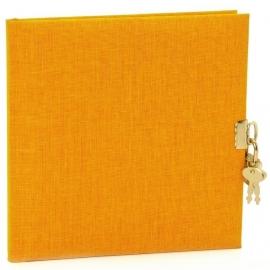 Goldbuch Summertime Linnen dagboek met slot okergeel [1478]
