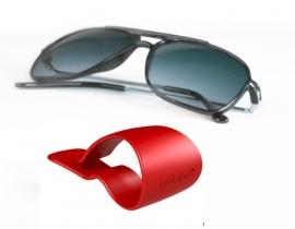 Bobino Glasses Clip brilclip voor in de auto rood [2158]