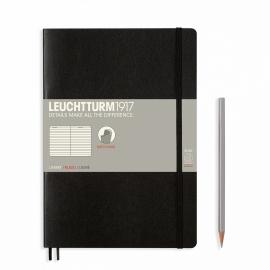 xx Leuchtturm1917 Softcover Notitieboek  Gelinieerd 17,8 x 25,4 cm - B5 - Zwart