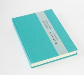 Linnen notitieboek gelinieerd