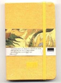 Moleskine SCHETSBOEK met zijden kaft Vincent van Gogh 9x14 GEEL [124]