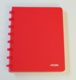 Trendy Atoma notitieboek A5 geruit rood