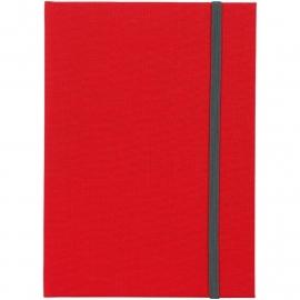 Goldbuch Linum gebonden gelinieerd Notitieboek 15,3 x 21,5cm Rood linnen