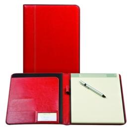 Brepols Palermo Klassieke Leren schrijfmap A4 Rood