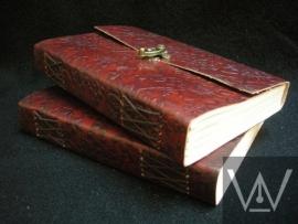 Paul-Francis gebonden leren Kamperfoelie Journal 20x15cm