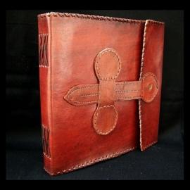 Paul-Francis lederen Schetsboek, Dagboek of Gastenboek VERONA  23x23 cm