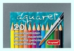 Bruynzeel Aquarelpotloden set 20 stuks MXZ in blik [1316]