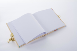 Turnowsky Mosaic Butterfly beige dagboek met slot