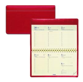 xx 2020 Brepols PALERMO weekagenda liggend (9x16cm) rood kunstleer [2378]