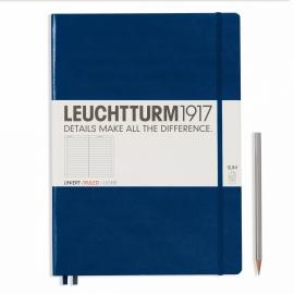Hardcover Notitieboek Leuchtturm1917 Gelinieerd Master SLIM - A4 Navy [1649]