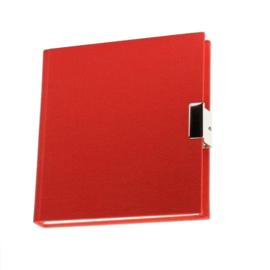Rood linnen Dagboek met slot