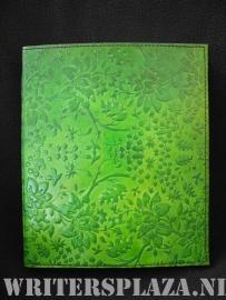 Paul-Francis leren Kamperfoelie Dagboek 23x19 cm Groen