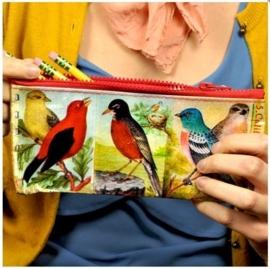 Etui voor je schrijfgerei BlueQ Vogels Birds met ritssluiting
