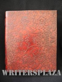 Paul-Francis leren Kamperfoelie Dagboek 23x19 cm Mahonie-Bruin