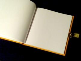 xx Goldbuch Summertime Linnen dagboek met slot blauw [1475]