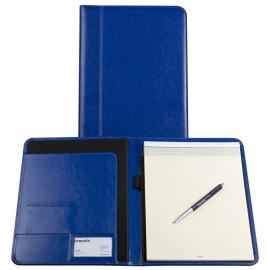 Brepols Palermo Klassieke Leren schrijfmap A4 Koningsblauw