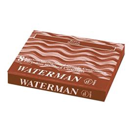 Waterman Standaard lange Inktpatronen Havana Bruin[1145]