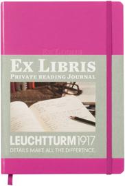 Leuchtturm1917 Ex libris Literatuurdagboek  A5 pink roze