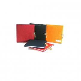 xx Goldbuch Summertime Linnen dagboek met slot rood [1476]