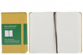 Moleskine notitieboek blanco oker GEEL oranje 9x14cm (pocket) [2367]