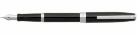 SHEAFFER Sagaris Vulpen glossy Zwart met Chroom