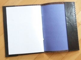 Paul-Francis XL - Lederen omslag A4 Spaans donkerbruin