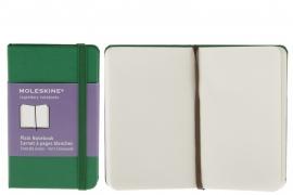 Moleskine notitieboek blanco GROEN 9x14cm (pocket) [2364]