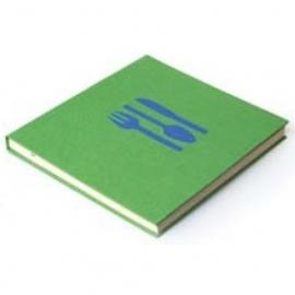 Bindewerk Pure Colour Kook- en Receptenboek groen [2190]