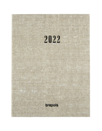 2022 Tessuto Agenda A5 - weekagenda beige