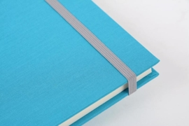Goldbuch Linum gebonden blanco Notitieboek 15,3 x 21,5cm Turquoise linnen