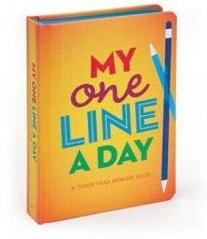 My One Line a Day - driejarendagboek voor jongeren [425]
