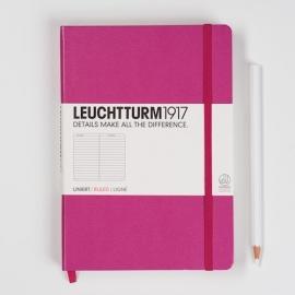 Leuchtturm1917 Notitieboek Gelinieerd 14.5 x 21cm (A5) Roze [780]