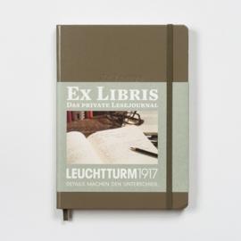 xx Leuchtturm1917 Ex libris Literatuurdagboek  A5 taupe [2638]