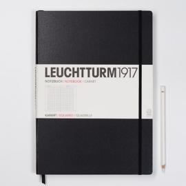 Hardcover notitieboek Leuchtturm1917 Geruit Master XL - A4