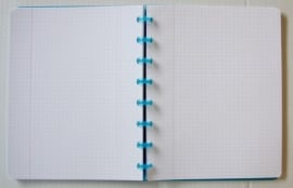 Trendy Atoma notitieboek A5 geruit rood [1987]