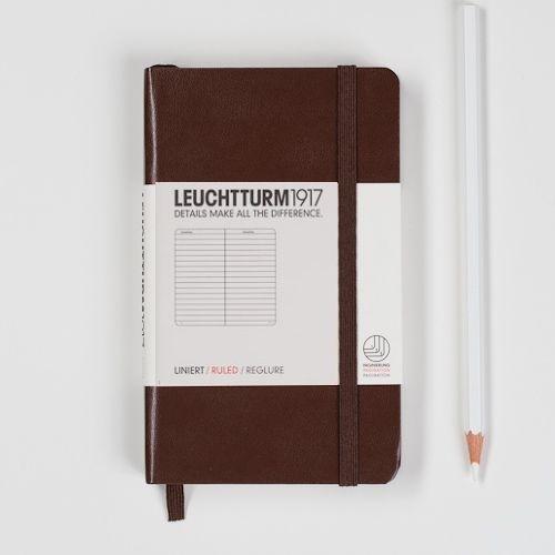 Leuchtturm1917 Colour notitieboek Gelinieerd 9 x 15 cm (Pocket) Tabacco [1272]