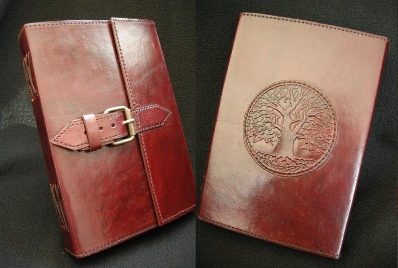 Paul-Francis Leren dagboek Eikenboom met riem 20 x 15cm [386] C