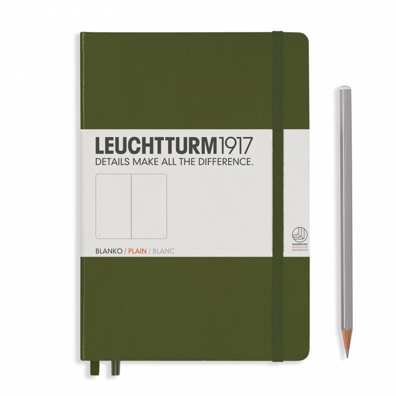 Leuchtturm1917 Notitieboek Gelinieerd 14.5 x 21cm (A5) Army