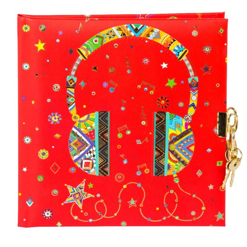 Turnowsky Headphone dagboek met slot  [1484]