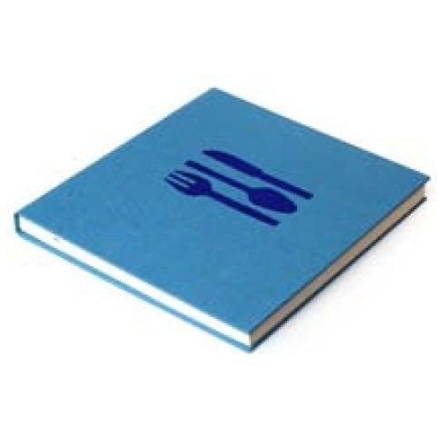 Bindewerk Pure Colour Kook- en Receptenboek blauw [2188]