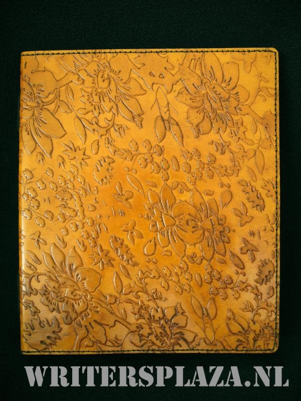 Paul-Francis leren Kamperfoelie Dagboek 23x19 cm Honing-Bruin