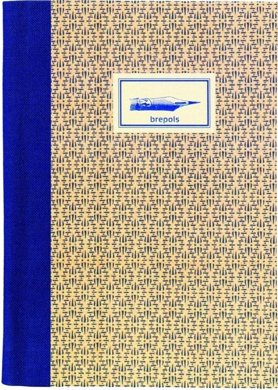 Brepols Chambord gelinieerd notitieboek A5+ speelkaartmotief blauw stitch [2492]