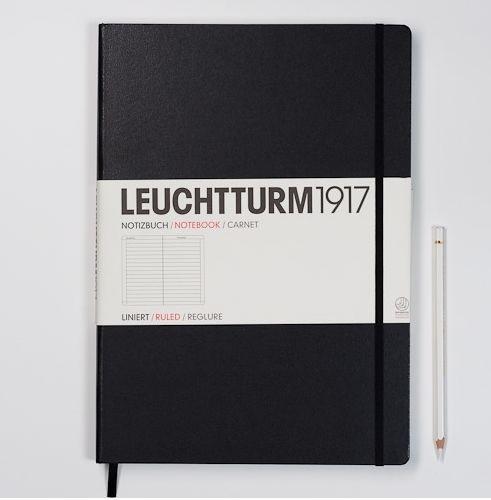 Hardcover Notitieboek Leuchtturm1917 Gelinieerd Master XL- A4
