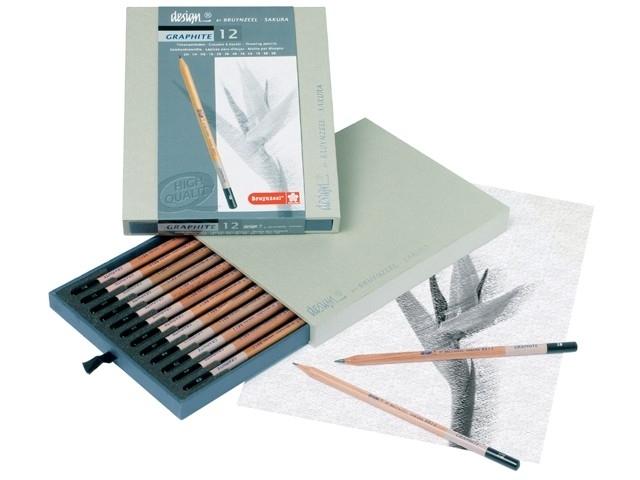 Bruynzeel Design Tekenbox professionele grafietpotloden set diverse hardheden