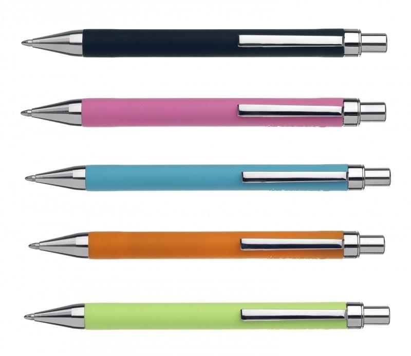 Ballograf Soft Balpen pocket formaat vrolijke kleuren